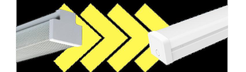 Industrial LED Batton Conversion