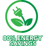 80 Percent Energy Savings